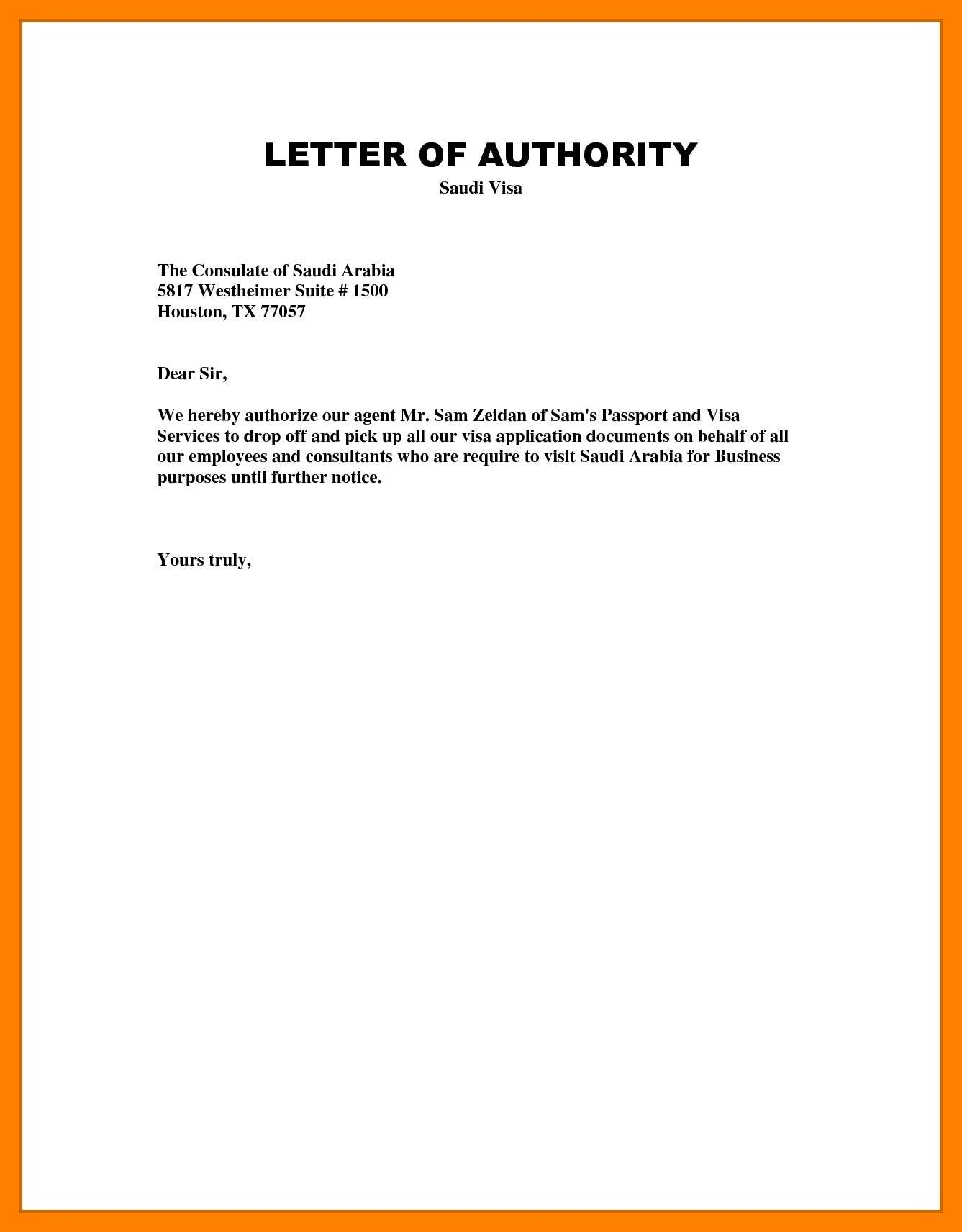 Authorization letter its all about how to write an authorization there is proper format to write this letter the format can vary from purpose to purpose but important things remain the same expocarfo Gallery