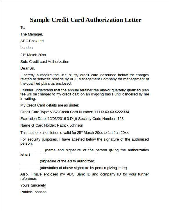 Authorization letter its all about how to write an authorization credit card authorization letter altavistaventures Gallery