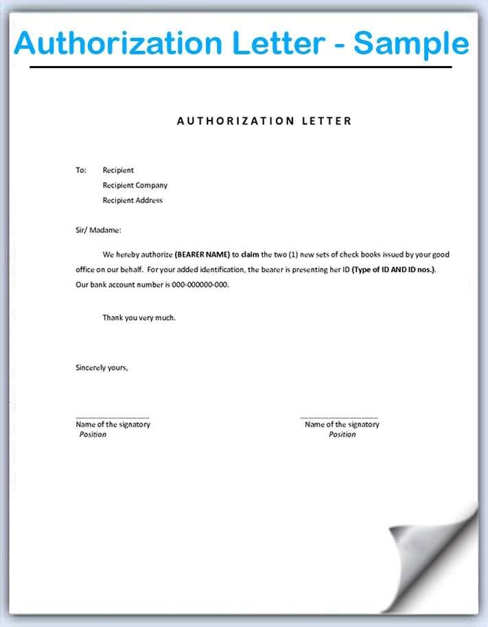How to Write an Authorization Letter