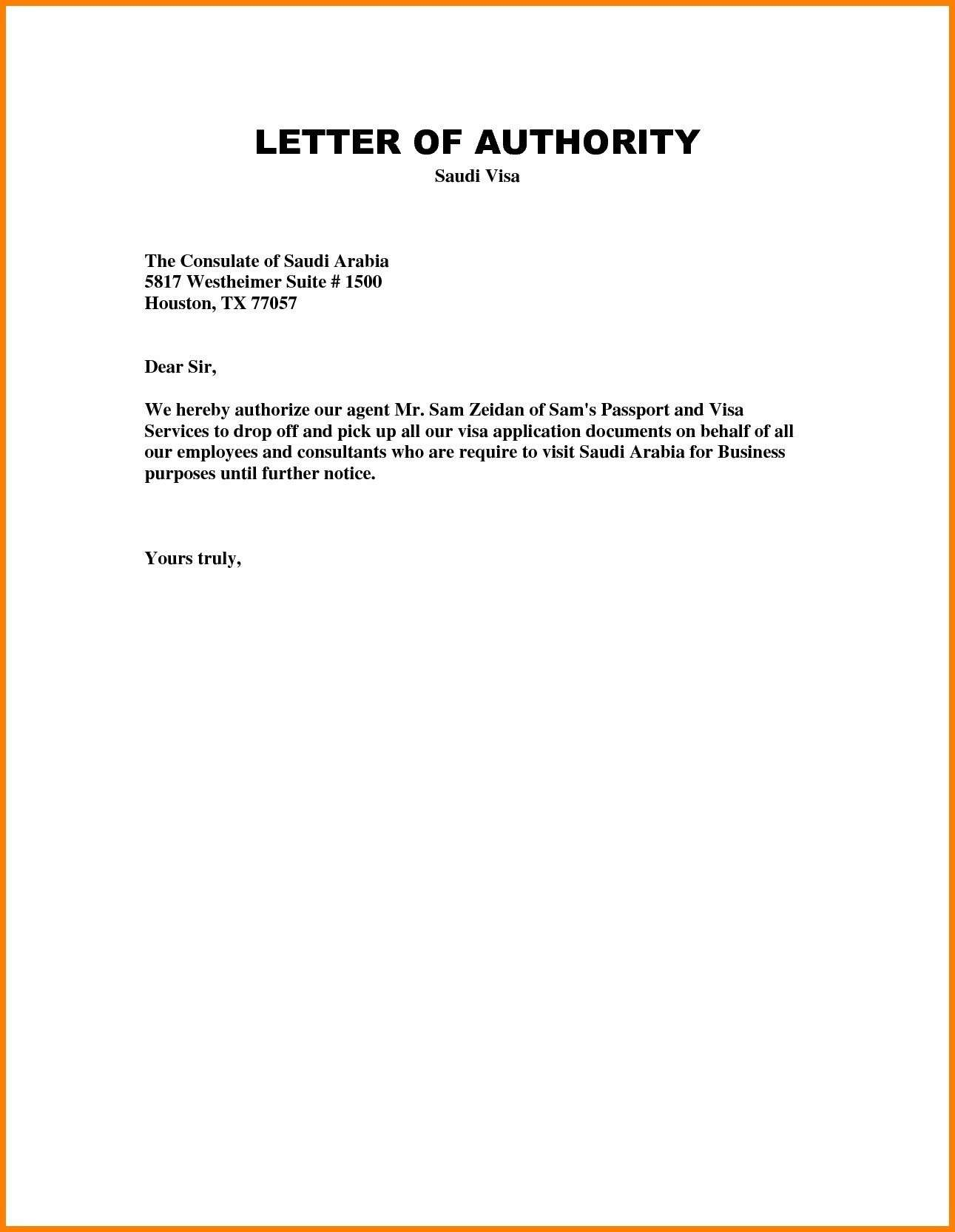 how to write authorization letter to bank on behalf