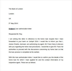 Authorization Letter to Bank Sample