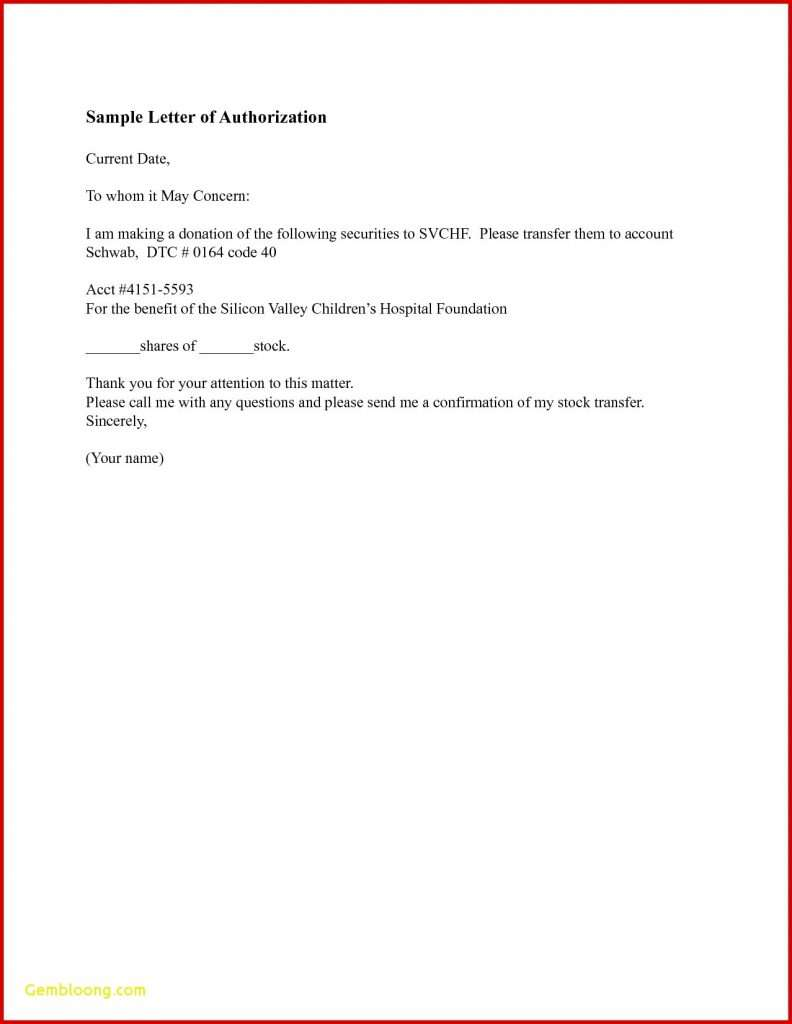 Authorization Letter for Company Representative