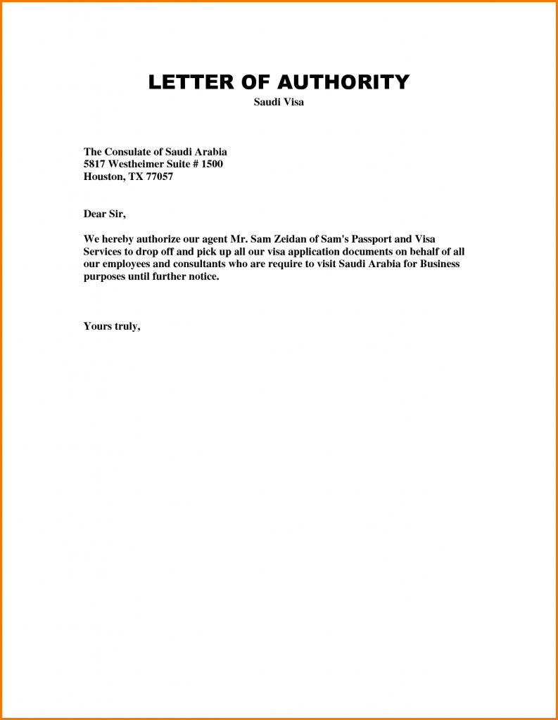 Authorization Letter to Pick Up Child from School