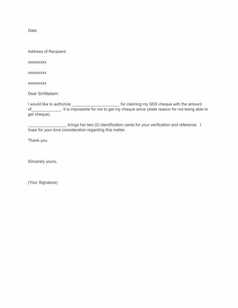 Letter of Authorization Template Word